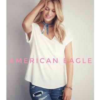 アメリカンイーグル(American Eagle)のダメージTシャツ☆アメリカンイーグル☆M(Tシャツ(半袖/袖なし))