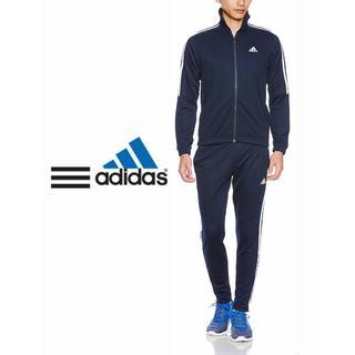 アディダス(adidas)のadidas セットアップ Lサイズ 上下ジャージ 三本ライン 紺 ネイビー(セットアップ)