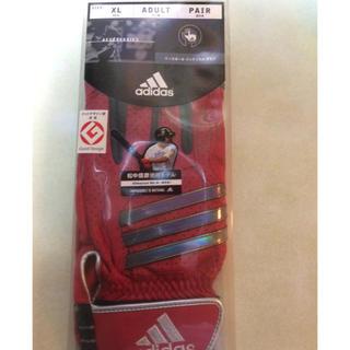 アディダス(adidas)のタイムセール‼️adidas赤バッティンググローブ XL両手(グローブ)
