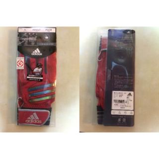 アディダス(adidas)のタイムセール‼️adidas 赤バッティンググローブ羊革 L(グローブ)