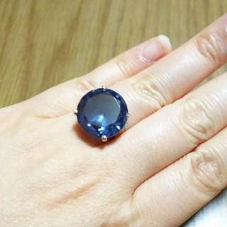 18K 大きな パープルサファイアの ヴィンテージリング(リング(指輪))