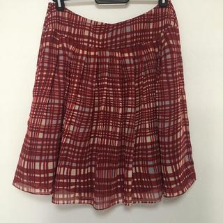 ジェネラ(GENERRA)のチェック柄 スカート(ひざ丈スカート)