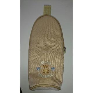 ミキハウス(mikihouse)の専用!《未使用》ミキハウスファースト哺乳瓶ケース☆くまの刺繍がかわいい☆ブラウン(哺乳ビン)
