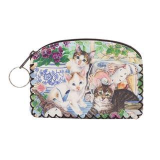 猫 猫お財布コインケース ねこ小物入れ 猫小銭入れ 新品未使用品(猫)