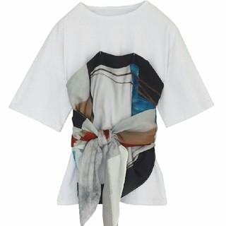 アメリヴィンテージ(Ameri VINTAGE)のアメリヴィンテージ☆ MEDI DRAWING UNEVEN TEE(Tシャツ(半袖/袖なし))