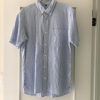 ムジルシリョウヒン(MUJI (無印良品))の美品 無印良品 半袖シャツ ストライプシャツ  メンズ  L(シャツ)