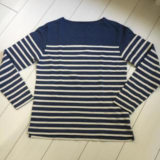 ムジルシリョウヒン(MUJI (無印良品))の無印 美品 メンズ  ボーダーカットソー(Tシャツ/カットソー(七分/長袖))