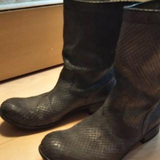 アタッチメント(ATTACHIMENT)のattachmentパイソンブーツ定価8万新品未使用(ブーツ)