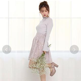ワンアフターアナザーナイスクラップ(one after another NICE CLAUP)のナイスクラップ♡完売♡オーガンジー刺繍スカート(ミニスカート)