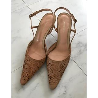パラディクルール(PARADIS COULEUR)のPARADIS COULEUR ピンヒール サイズ24 本革 靴(ハイヒール/パンプス)