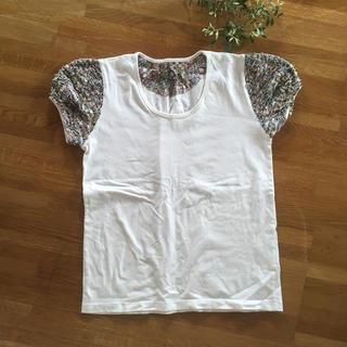 クーポール(coupole)のCoupole リバティ パフスリーブ (Tシャツ(半袖/袖なし))