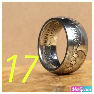 アメリカバーバーハーフダラーリング 指輪 1908年 銀貨(リング(指輪))