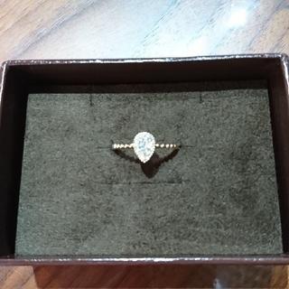 K18 ダイヤモンドリング 0.2ct 雫リング(リング(指輪))
