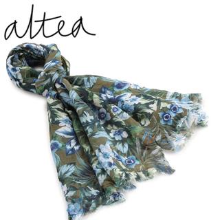 アルテア(ALTEA)のALTEA アルテア ハイビスカス柄 春夏 スカーフ カーキ (バンダナ/スカーフ)