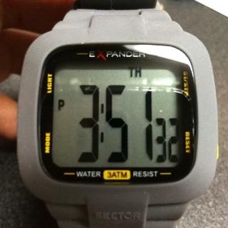 セクター(SECTOR)の箱付き SECTOR セクター EXPANDER 美品 電池交換済み(腕時計(デジタル))