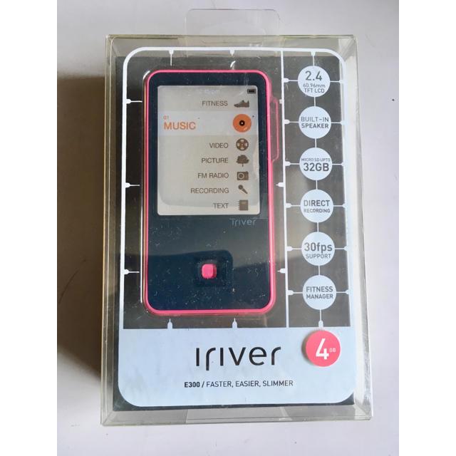 iriver(アイリバー)のiriver デジタルプレーヤー E300 4GB ピンク スマホ/家電/カメラのオーディオ機器(ポータブルプレーヤー)の商品写真