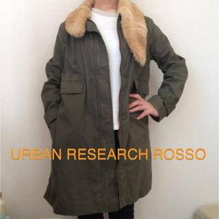 アーバンリサーチロッソ(URBAN RESEARCH ROSSO)のUR ROSSO ファー付きモッズコート(ミリタリージャケット)