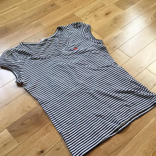 DO!FAMILY(ドゥファミリー)のDo! Family ボーダーTシャツ M 白×紺 レディースのトップス(Tシャツ(半袖/袖なし))の商品写真