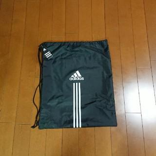 アディダス(adidas)のアディダス巾着50×60センチ黒(エコバッグ)