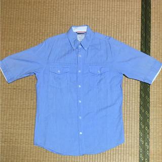 ネイビープロデュース(Navy produce)の半袖シャツ、メンズ、ボタンダウン、ネイビープロディース、ダンガリー(シャツ)