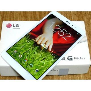 エルジーエレクトロニクス(LG Electronics)のLG G Pad 8.3 LG-V500☆美品☆送料無料(タブレット)