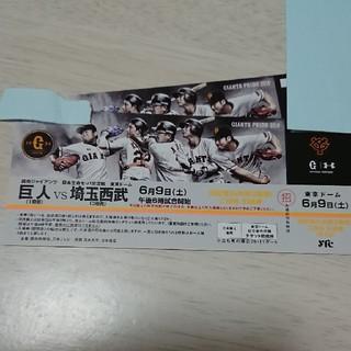 ヨミウリジャイアンツ(読売ジャイアンツ)の東京ドーム 巨人vs西武 プロ野球 野球観戦(野球)