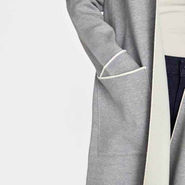 ZARA(ザラ)のZARA 安室奈美恵着 パイピング入りコート レディースのジャケット/アウター(ロングコート)の商品写真