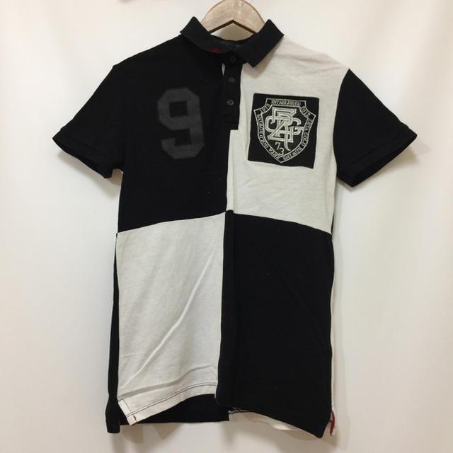 ZARA(ザラ)のZARA COLLECTION ザラ コレクション 白x黒 S ワッペン 古着 メンズのトップス(ポロシャツ)の商品写真