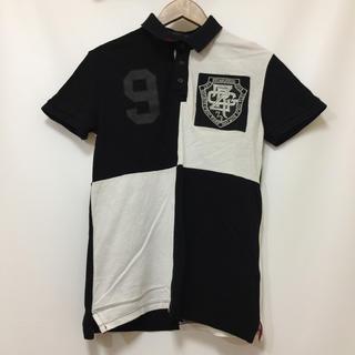 ザラ(ZARA)のZARA COLLECTION ザラ コレクション 白x黒 S ワッペン 古着(ポロシャツ)