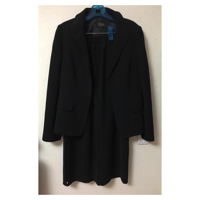 しまむら(シマムラ)のタグ付き新品! ブラックフォーマル スーツ上下 レディースのフォーマル/ドレス(礼服/喪服)の商品写真