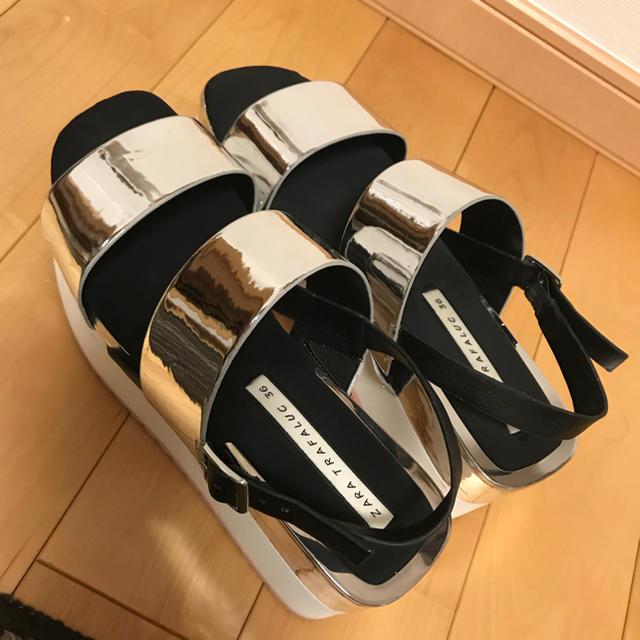ZARA(ザラ)のzara ジュートサンダル シルバー レディースの靴/シューズ(サンダル)の商品写真