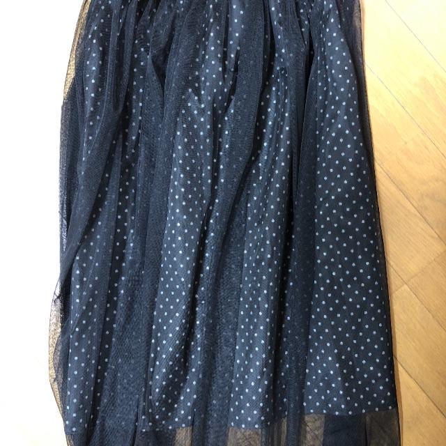 しまむら(シマムラ)の人気☆ドット チュールスカート レディースのスカート(ロングスカート)の商品写真
