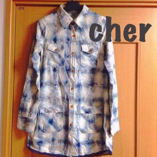 シェル(Cher)のcher*シャツワンピ(ひざ丈ワンピース)