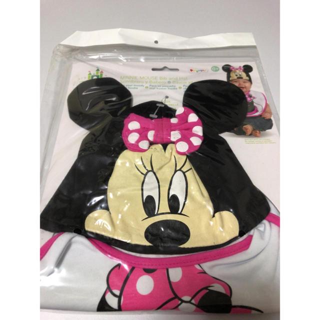 Disney(ディズニー)のディズニー ミニー 帽子&スタイ キッズ/ベビー/マタニティのこども用ファッション小物(帽子)の商品写真