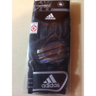 アディダス(adidas)のタイムセール!adidas黒バッティンググローブ羊革(グローブ)