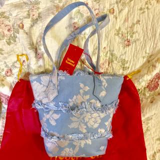 ヴィヴィアンウエストウッド(Vivienne Westwood)の値下げ ヴィヴィアン ゴブランローズ  ブルー バッグ 未使用(ハンドバッグ)