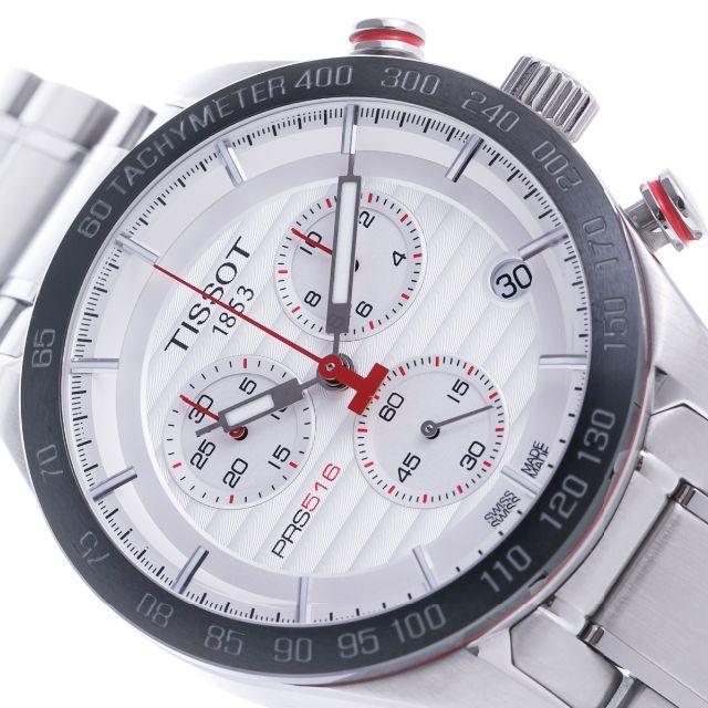 55371ae4f0 TISSOT(ティソ)のティソ メンズ クロノ クォーツ シルバーダイアル SS 100048 メンズの時計