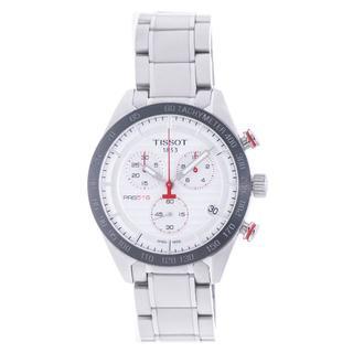 ティソ(TISSOT)のティソ メンズ クロノ クォーツ シルバーダイアル SS 100048(腕時計(アナログ))