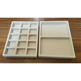 ムジルシリョウヒン(MUJI (無印良品))の無印 アクリルケース用・ベロア内箱仕切 2つセット(小物入れ)