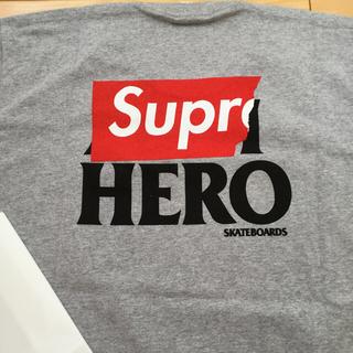 シュプリーム(Supreme)のtatsuki様専用14ss Supreme×AntiHero TグレーXL(Tシャツ/カットソー(半袖/袖なし))