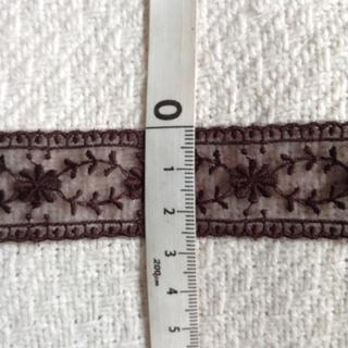 木馬 装飾 レースリボン こげ茶 1.5m(各種パーツ)