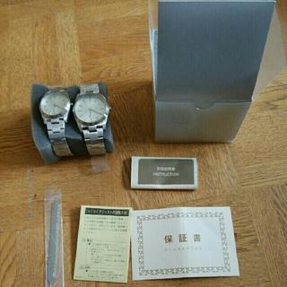 ムジルシリョウヒン(MUJI (無印良品))の新品 正規品 MUJI 無印良品  ステンレス腕時計 二つ ペアウォッチ 腕時計(腕時計)