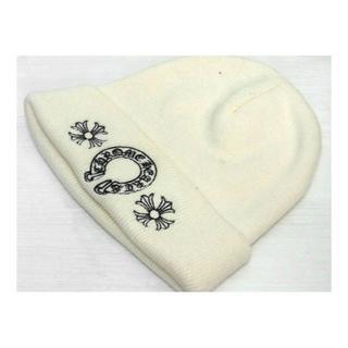 クロムハーツ(Chrome Hearts)のクロムハーツCHROMEHEARTS■ホースシュー刺繍ビーニーニットキャップ(ニット帽/ビーニー)
