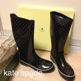 ケイトスペードニューヨーク(kate spade new york)のケイトスペードの水玉レインブーツ(レインブーツ/長靴)