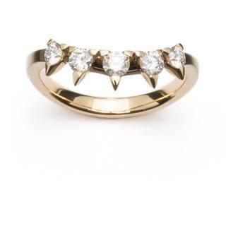 タサキ(TASAKI)のTASAKI チャッティー プラント リング  ダイヤ デインジャー 未使用(リング(指輪))