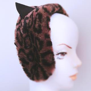 カシラ(CA4LA)の【新品】CA4LA ⌘ふわふわの肌触りが気持ちいい♪猫耳ヒョウ柄カクテルハット⌘(ハット)