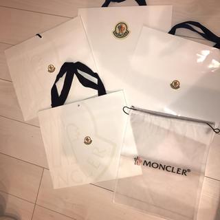 モンクレール(MONCLER)の美品(*・ω・*)モンクレール  ショップ袋  白 キレイ♪(ショップ袋)