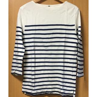 ムジルシリョウヒン(MUJI (無印良品))の無印良品 ボーダーシャツ(Tシャツ/カットソー(七分/長袖))