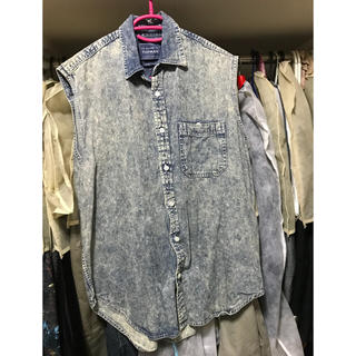 トップマン(TOPMAN)のTOPMAN ノースリーブシャツ sサイズ(Tシャツ/カットソー(半袖/袖なし))