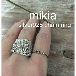 mikia  silver925 チェーンリング(リング(指輪))